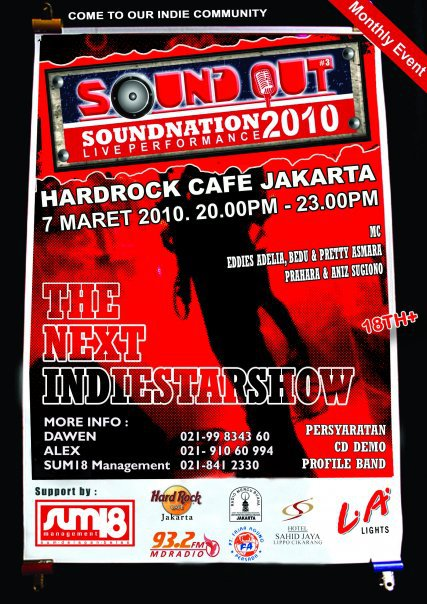 INDIE BAND AUDITION FOR SOUND OUT SOUNDNATION #3 HARD ROCK CAFE